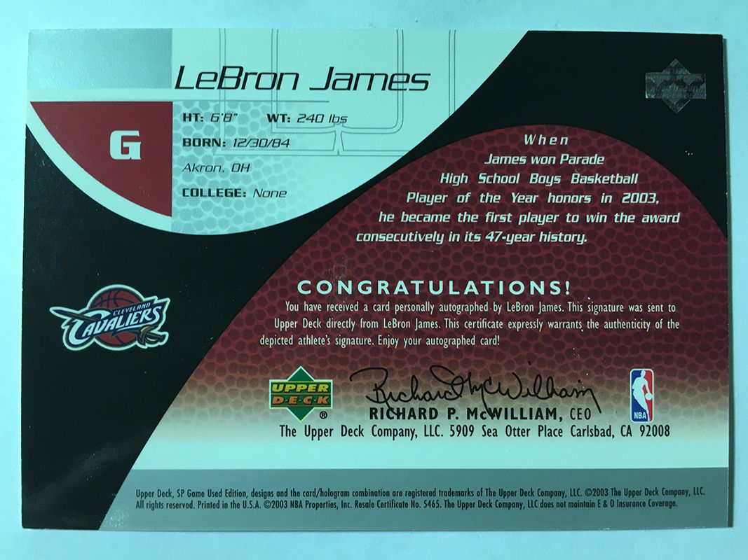 2003-04 Game Used Rookie Exclusive Autographs #1 Lebron Jamesb.jpg